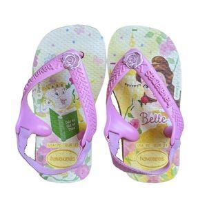 Havaianas Baby Disney Beauty & Beast Flip Flops 7C